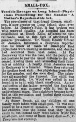 A story in the May 30, 1871 edition of the Philadelphia Evening Telegraph. Credit: Library of Congress.