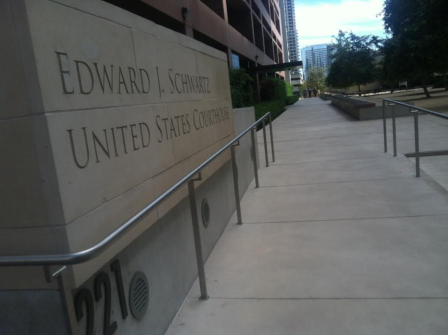 Federal Courthouse in San Diego, California. Tarryn Mento, KPBS