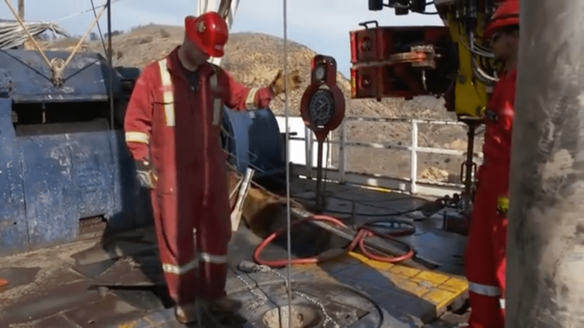 A relief well is being drilled by the Southern California Gas Company. Courtesy SoCalGasCo/YouTube