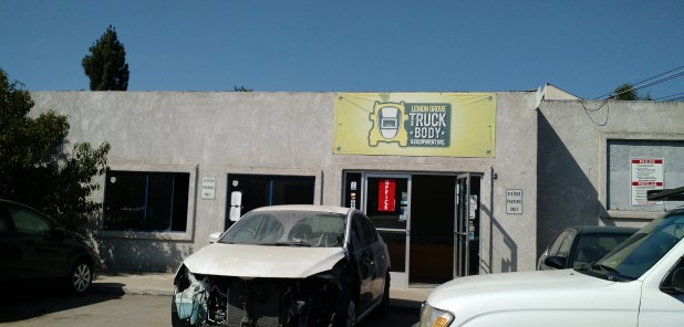 """Lemon Grove Truck Body is the subject of dozens of complaints about fumes, but Omar Zamora, an owners, says some are erroneous, and rightfully should name other body shops at the address. """"There's like six shops here,"""" he said."""