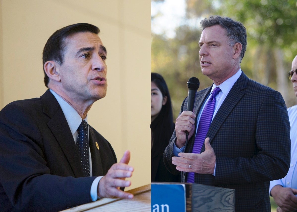 Reps. Darrell Issa (l) and Scott Peters (r). Issa: Courtesy photo. Peters: Megan Wood, inewsource.