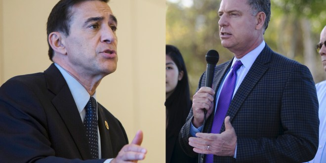 Issa's and Peters' voting records show contrasting degrees of party loyalty