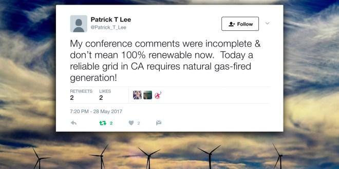 """Sempra backtracks on VP's """"100 percent renewable"""" comments"""