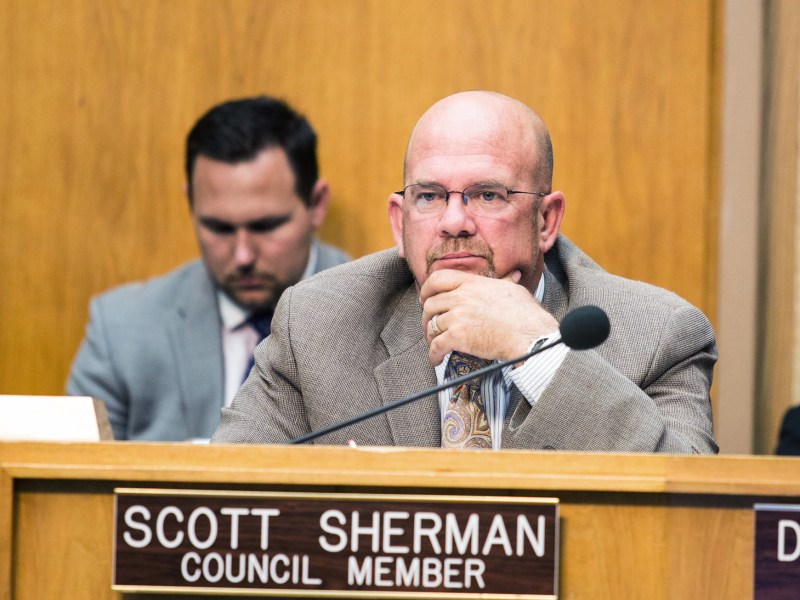 San Diego City Councilman Scott Sherman at a council meeting on June 1, 2015. (Megan Wood/inewsource)