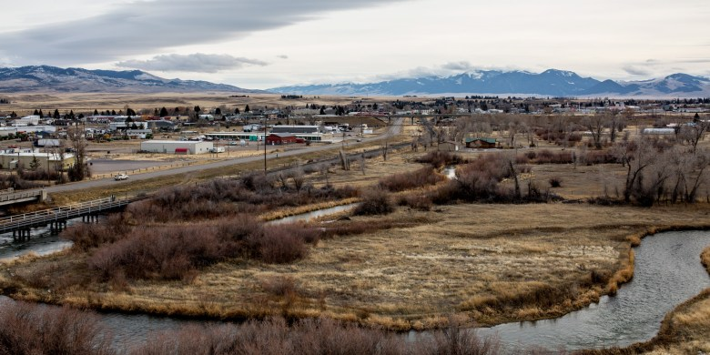 A scenic overview of Dillon, a rural town of about 4,200 people in western Montana's Beaverhead Valley. Photographed Nov. 30, 2017. <i srcset=