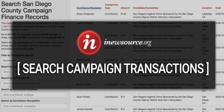 click to search campaign finance