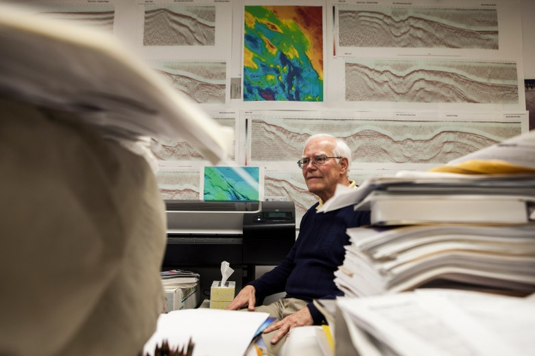 Mark Legg, president of Legg Geophysical, Inc. in Huntington Beach, California, said there is a longstanding culture in the state of hiding or ignoring faults because it can be costly and damaging discovery. Legg has studied faults in San Diego since the 1970s. (Brandon Quester/inewsource)