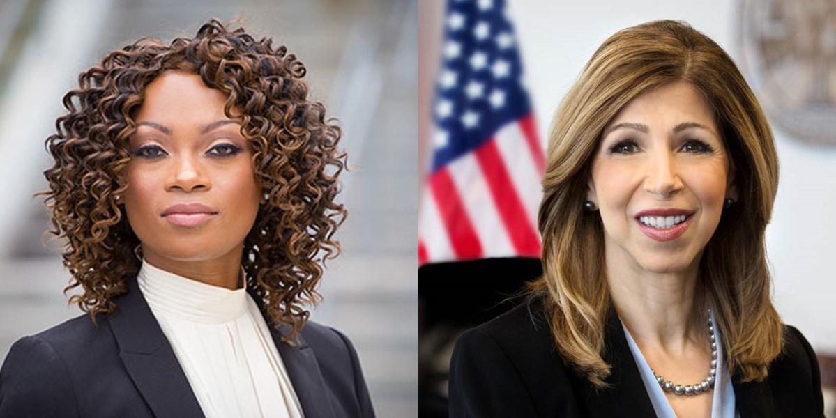 District attorney candidates Geneviéve Jones-Wright, left, and Summer Stephan.