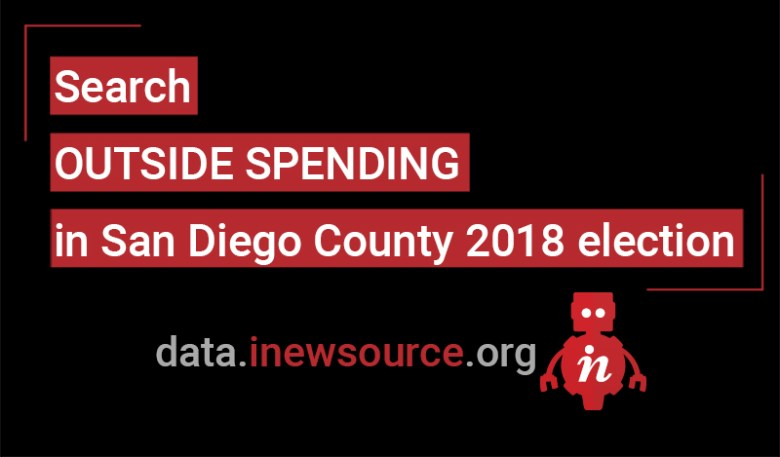 Click here to search outside spending in the San Diego County 2018 election.
