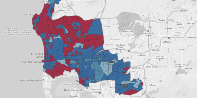 San Diego City Council Primary election results, mapped