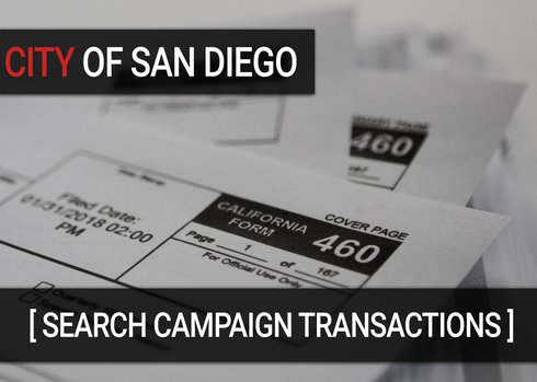 DATA: Search contributions supporting and opposing city campaigns