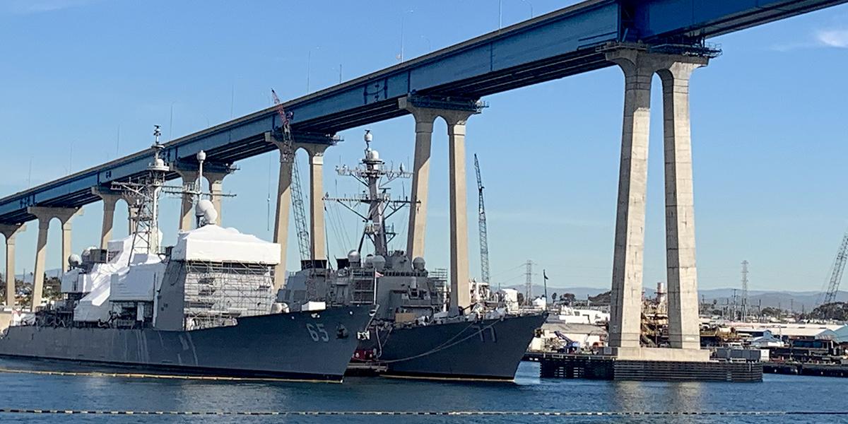 HII San Diego Shipyard, Jan. 24, 2019