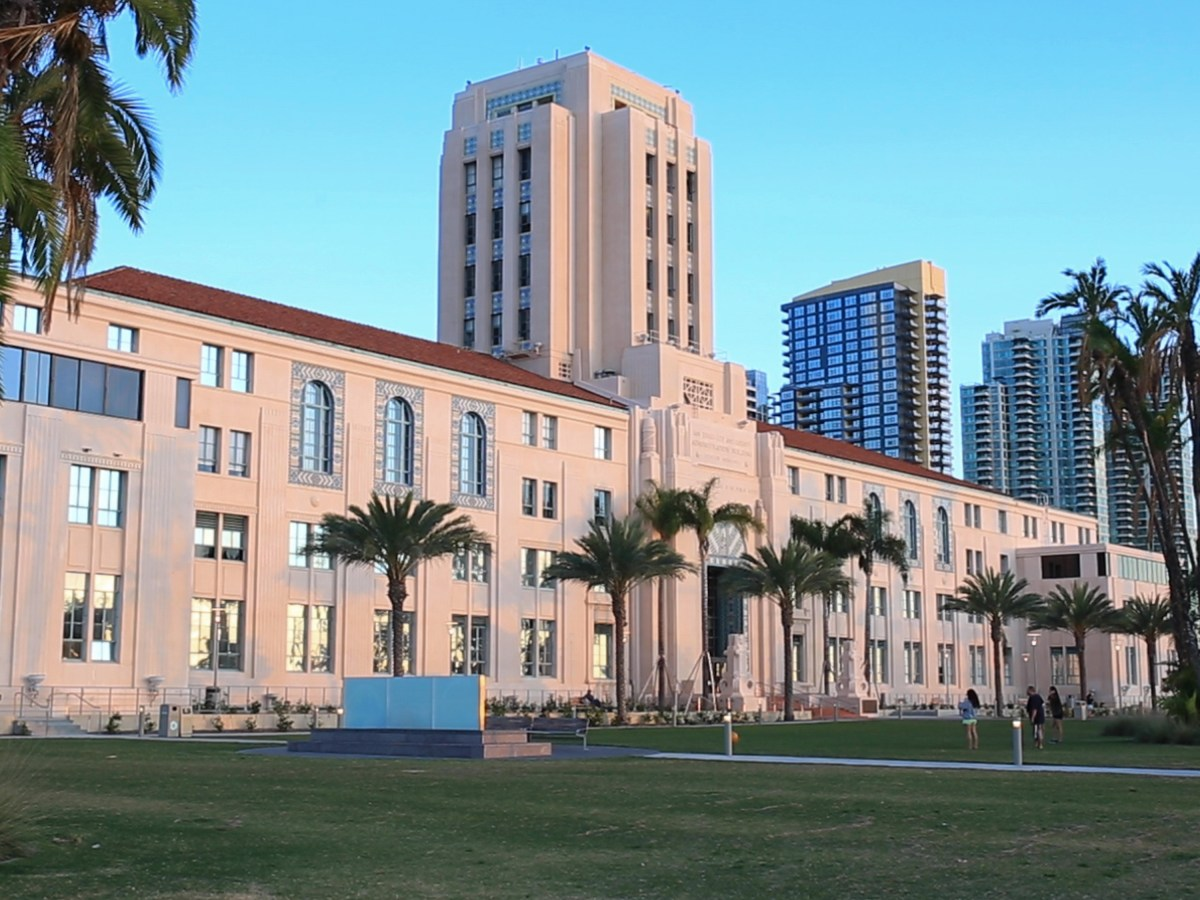 The San Diego County Administration building is shown in this photograph from Nov. 8, 2015.