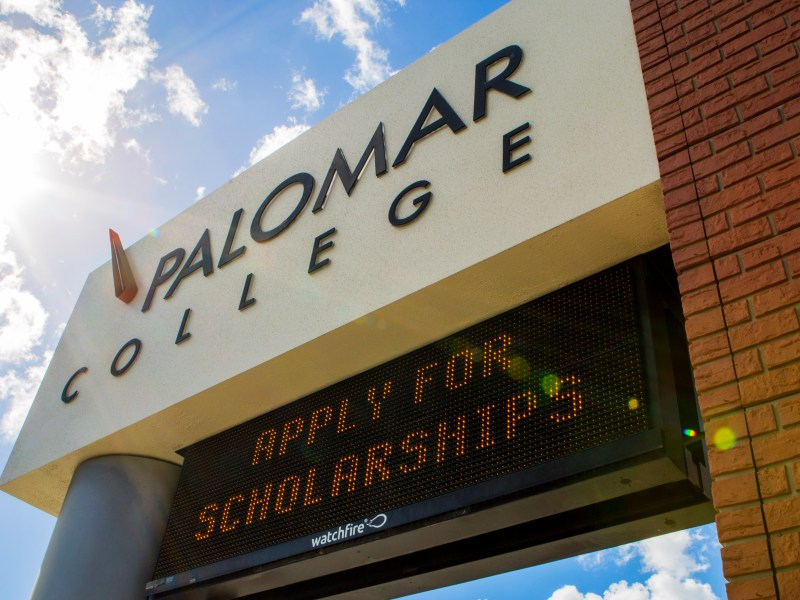 palomar college sign