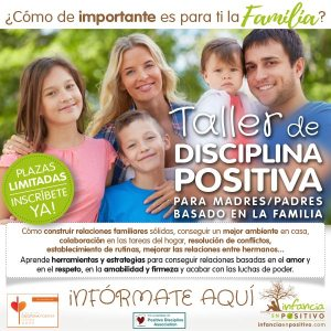 Próximo Taller de Disciplina Positiva para madres y padres
