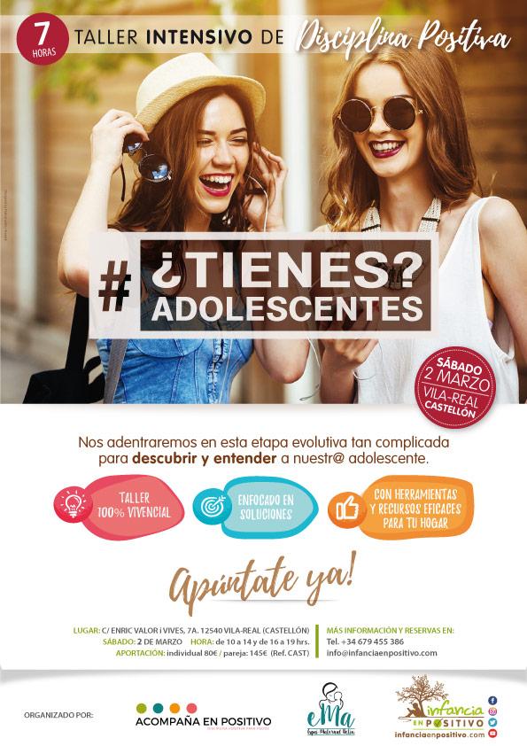 Taller de 1 día de Disciplina Positiva Adolescentes en Castellón