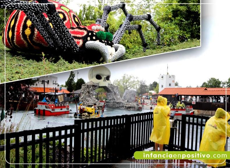 La casa encantada de los fantasmas y la bahía pirata en Legoland