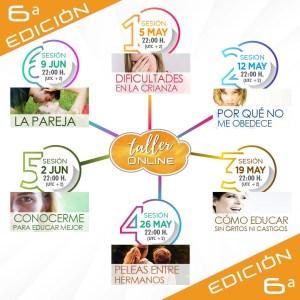 TALLER ONLINE FECHAS SEXTA EDICIÓN
