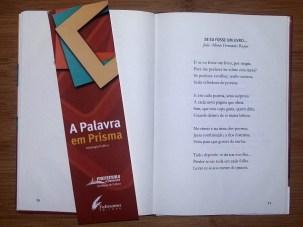 """O meu poema """"Se eu fosse um livro..."""" e o marcador que acompanha o livro."""