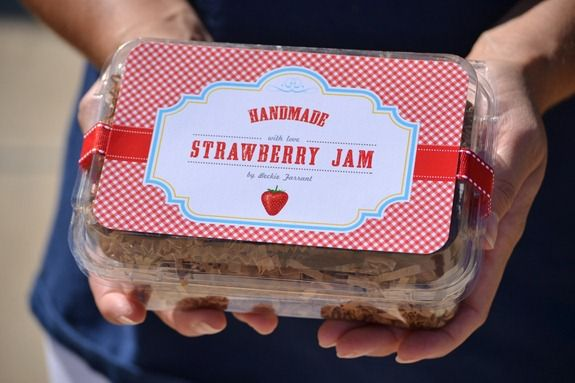 strawberry jam label (1)