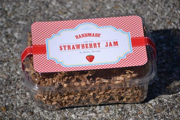 strawberry jam label