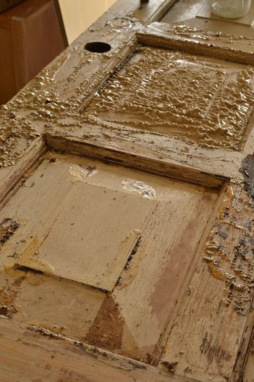 stripping a wood door