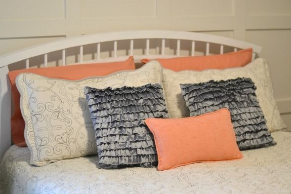 coral and gray bedding (9)