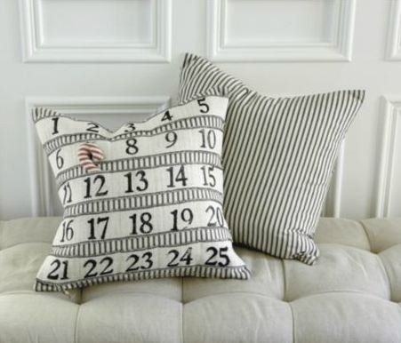 countdown to christmas pillow infarrantly creative. Black Bedroom Furniture Sets. Home Design Ideas