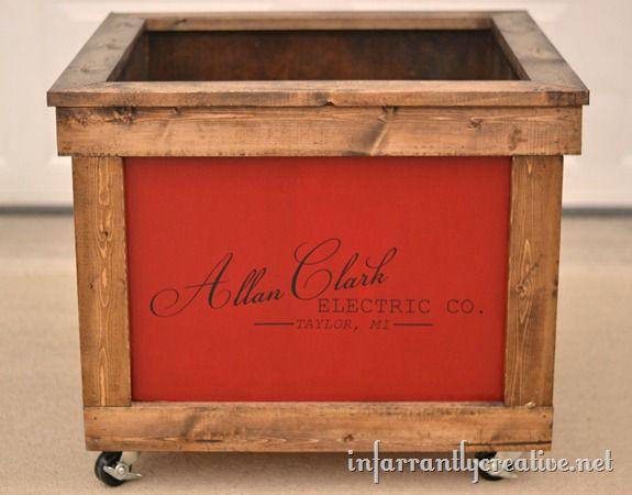 monogrammed toy chest