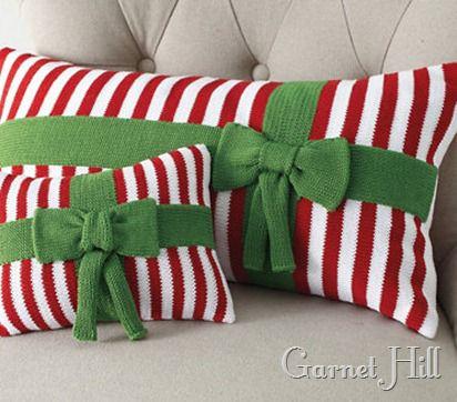 striped ornament pillow