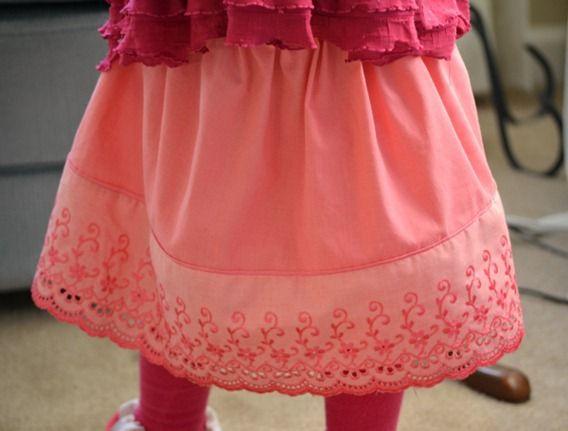 dyed ruffle skirt