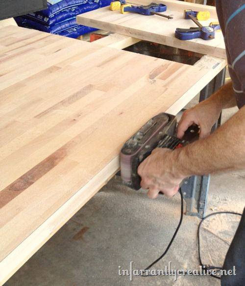 sanding-wood-countertop