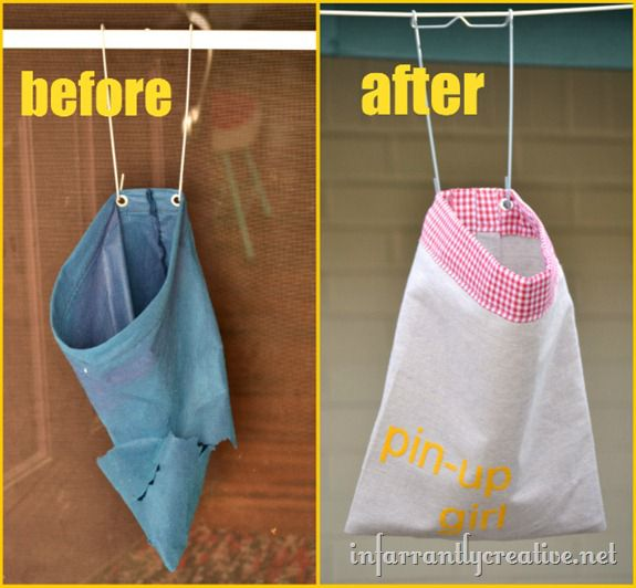 before and after clothespin bag