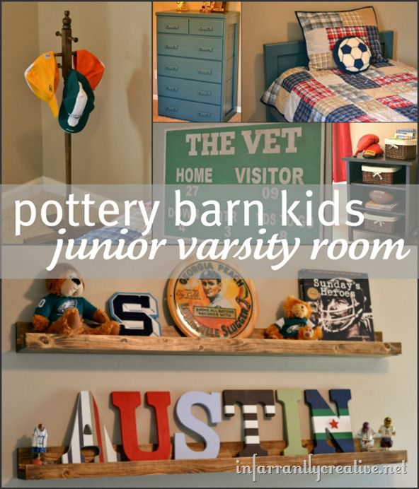 pottery barn kids junior varsity room