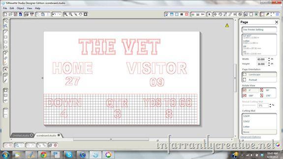 scoreboard design