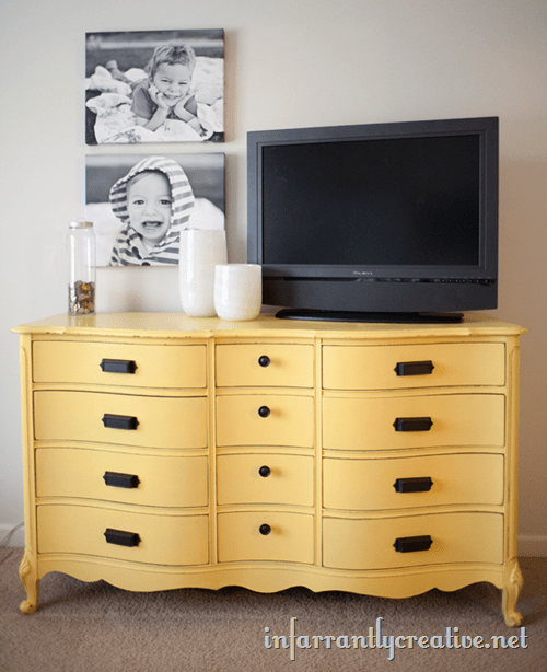 painted-yellow-dresser