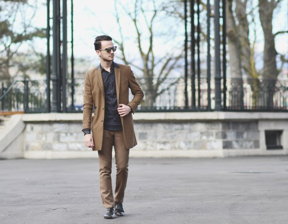 Infashionity swiss menswear fashion blog camel coat zara shirt dior eyewear