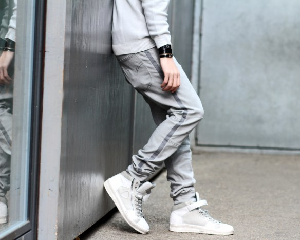 infashionity menswear fashion blog henri balit strellson casual high top sneakers track pants hermes bracelet