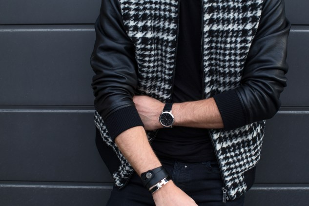 infashionity menswear fashion blog bomber jacket skinny jeans boots man look piaget altiplano