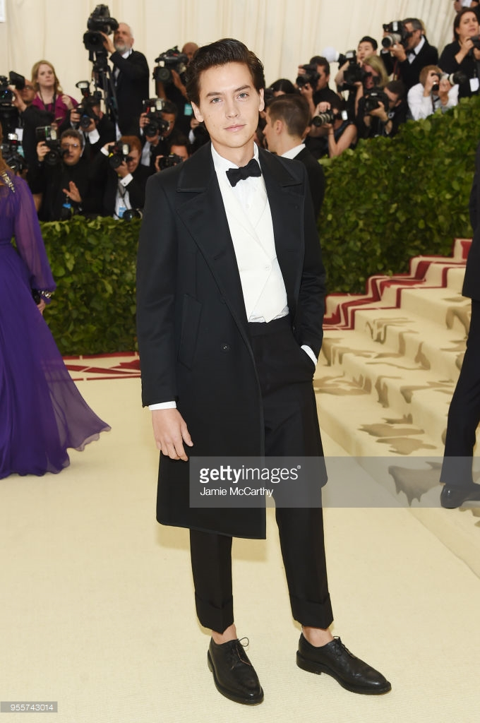 cole sprouse thom browne met gala 2018