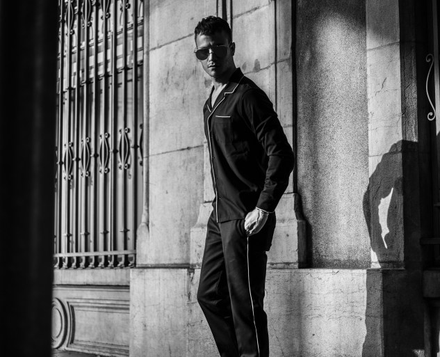 infashionity fashion blog henri balit thom browne sunglasses sandro pyjama shirt street style sony alpha photography black and white