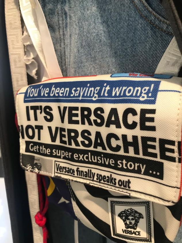 versace saying it wrong bag ss19 menswear