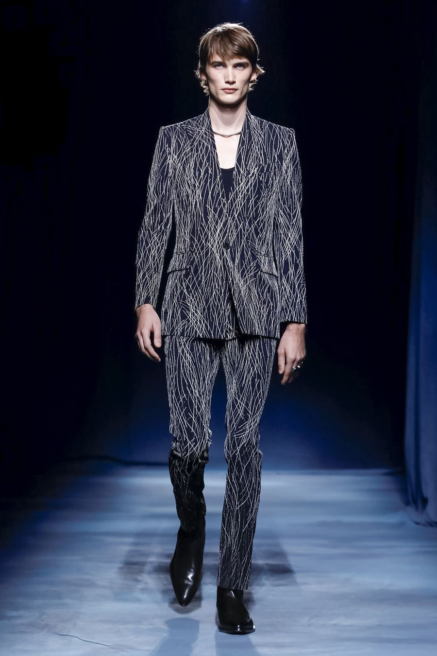 Givenchy SS19 menswear Clare Waight Keller pattern suit