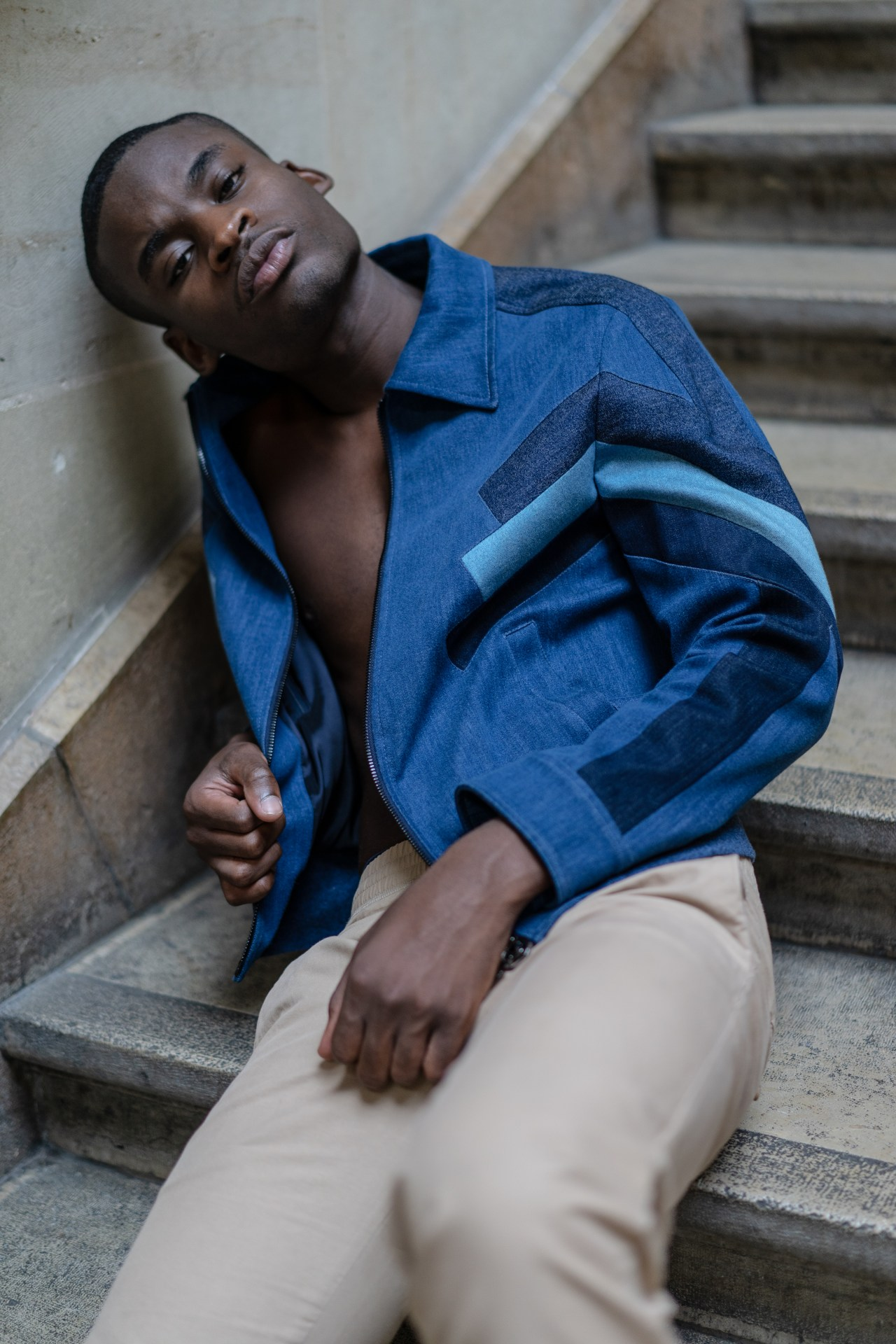 infashionity men's fashion magazie editorial black model neil barrett jacket palais rumine