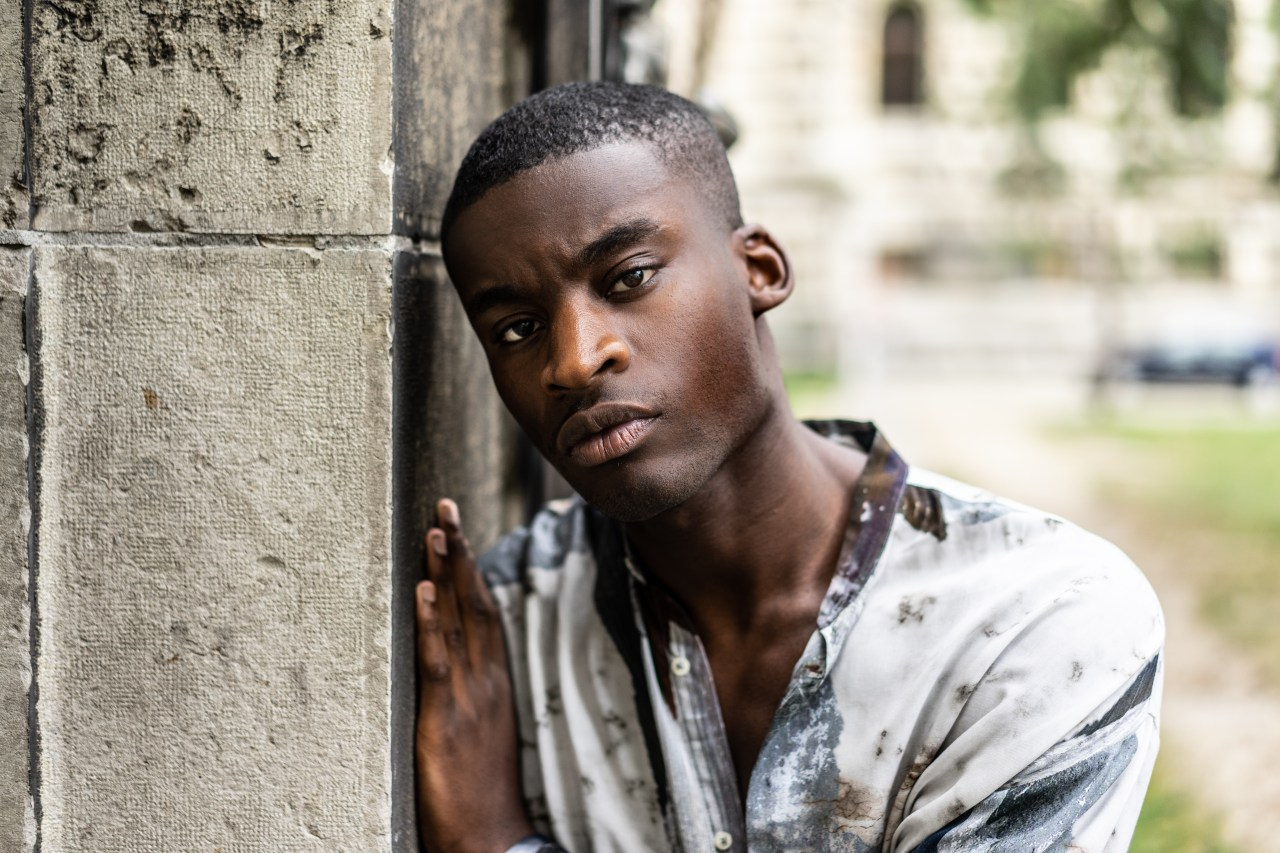 black male model portrait photography canon 85mm henri balit