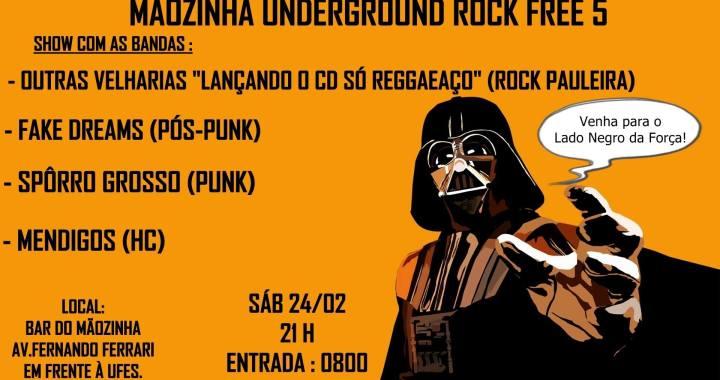 Mãozinha Underground Rock Free chega à sua quinta edição