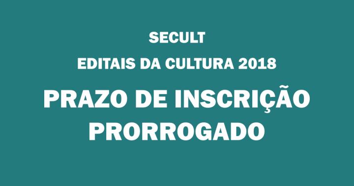 Secult: Conheça os Editais da Cultura 2018 e inscreva agora o seu projeto; saiba como