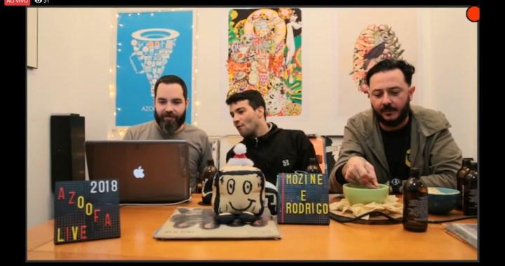 """Rodrigo e Mozine no Azoofa Live: """"A gente começou no punk não era pra pegar mina, a gente tinha uma postura e tem uma postura!"""""""