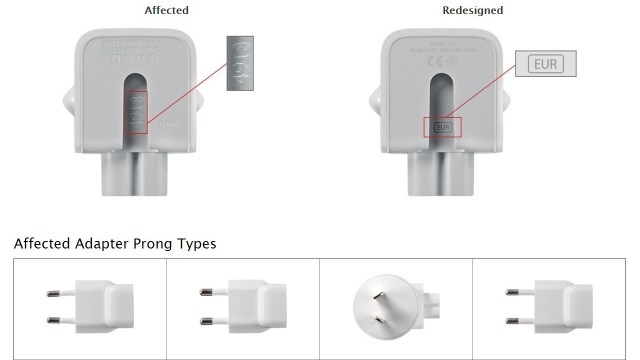 Apple two-prong wall plug adapters