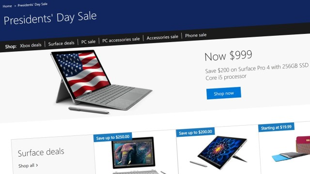 Microsoft Store Presidents Day Sale